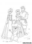 Die Eiskönigin Völlig Unverfroren Malvorlagen Zeichentrickfiguren