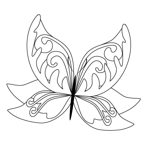 Schmetterling ausmalbilder schmetterlinge