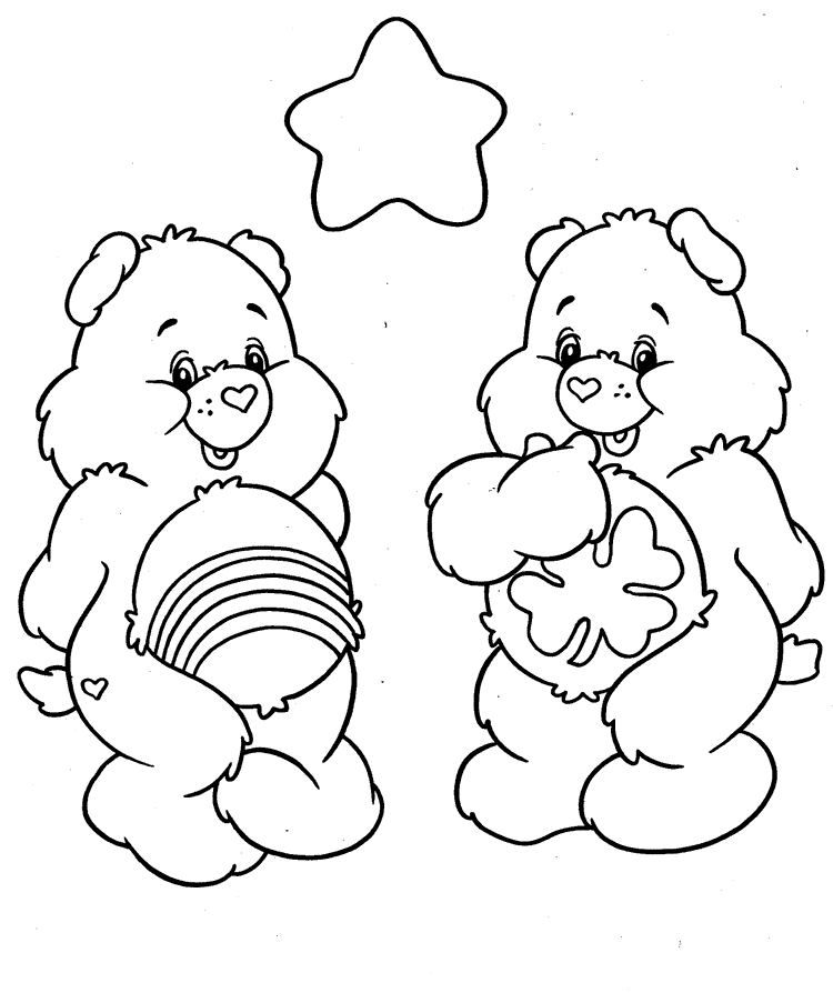 Holiday Coloring Pages care bear coloring pages : Ausmalbilder Die Glu00fccksbu00e4rchis -