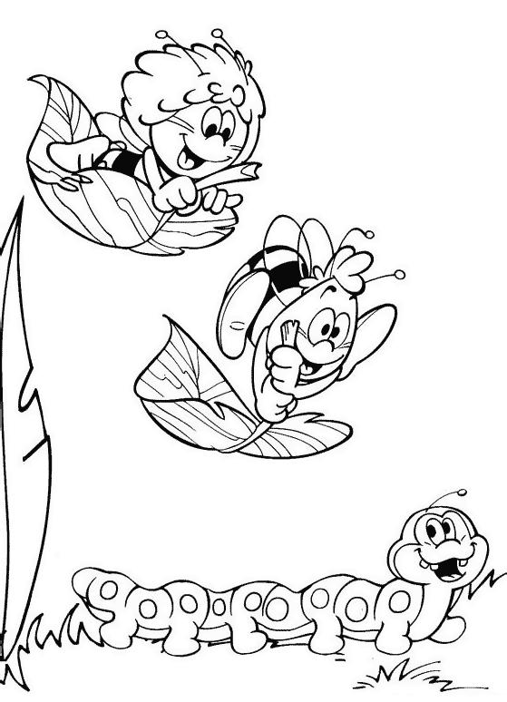 Ausmalbilder für Kinder Biene Maja