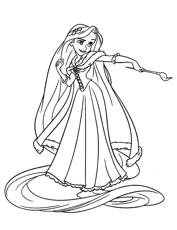 Ausmalbilder Rapunzel Malvorlagen Zeichnen