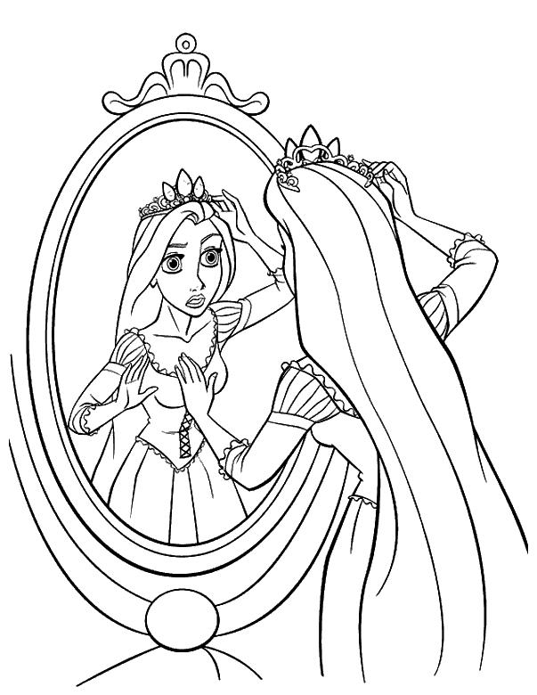 Ausmalbilder Für Kinder Prinzessin Rapunzel