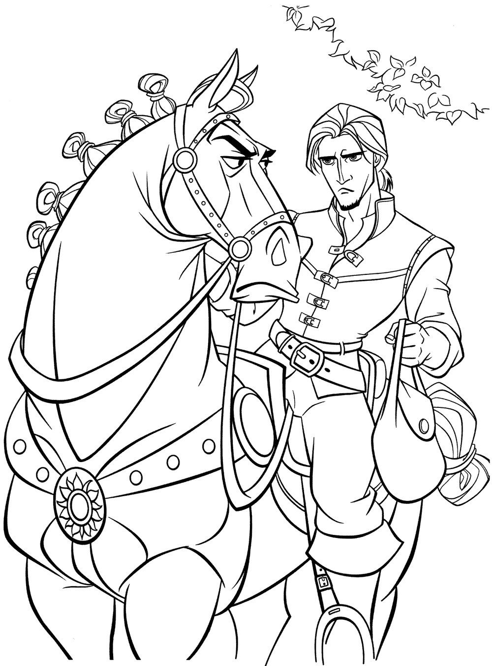 princess rapunzel tangled coloring pages of tangled
