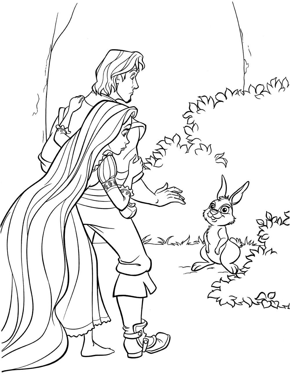 Ausmalbilder Für Kinder Rapunzel : Ausmalbilder F R Kinder Flynn