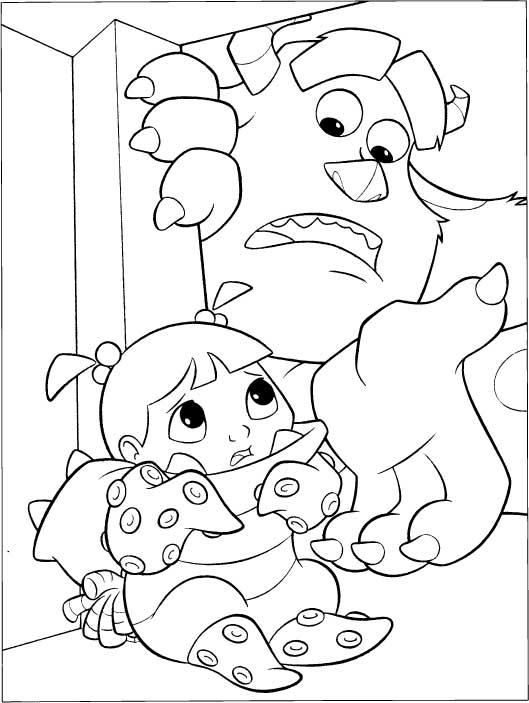 Ausmalbilder für Kinder Boo