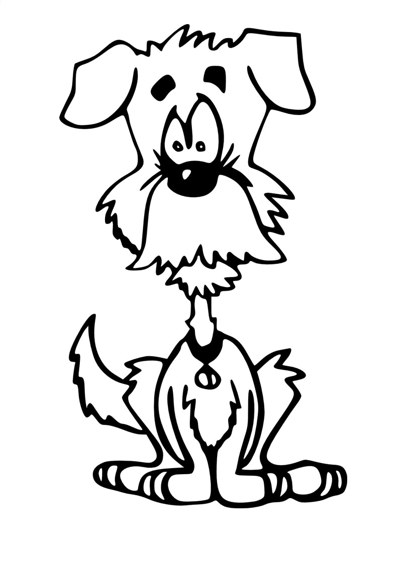Ausmalbilder für Kinder Hund