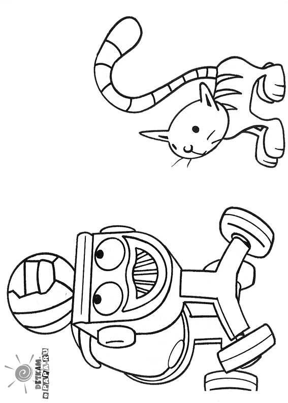 Ausmalbilder Für Kinder Mixi Und Katze