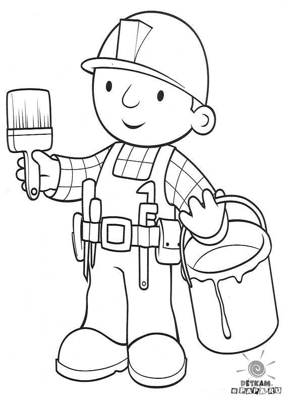 Bob der baumeister ausmalbilder  Ausmalbilder für Kinder Bob der Baumeister