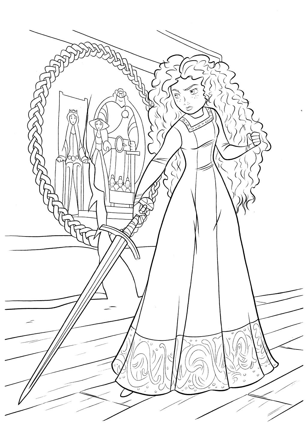 Brave Kid Coloring Page