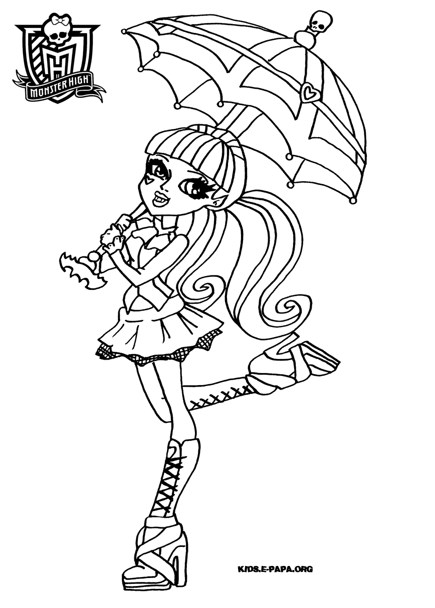 Ausmalbilder Monster High Baby : Monster High Coloring Pages Venus Mcflytrap To Print Dibujos De