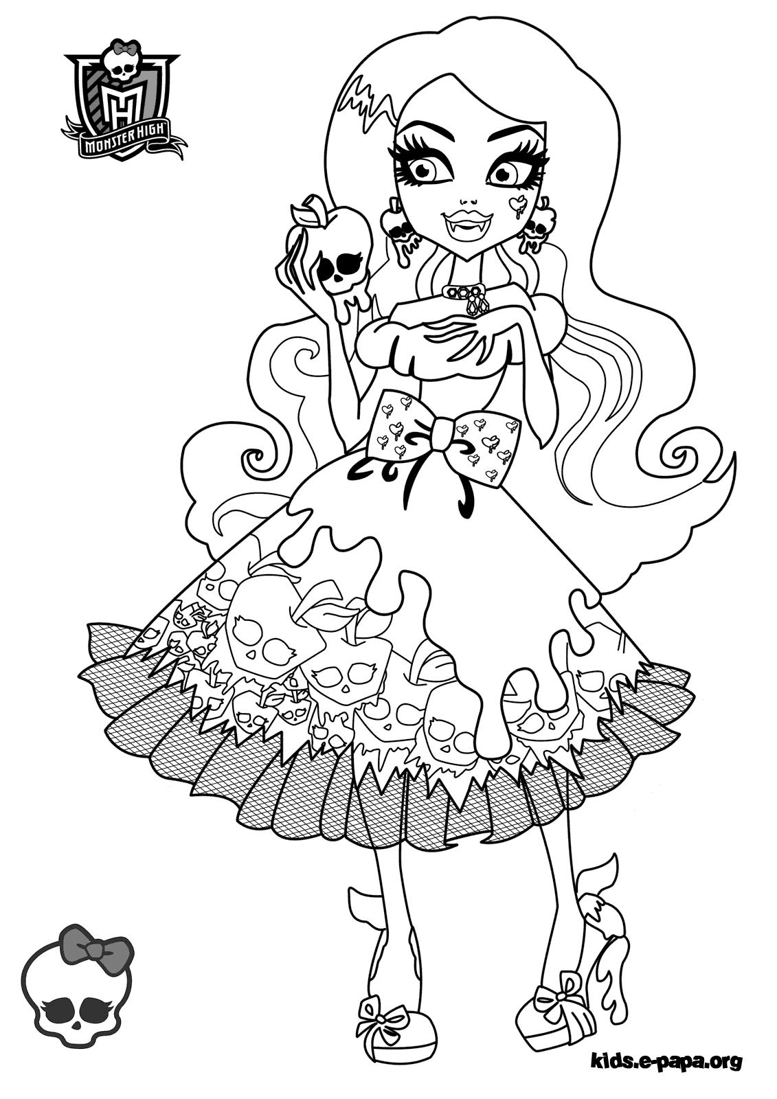 Monster High Ausmalbilder Cleo De Nile : Ausmalbilder F R Kinder Draculaura