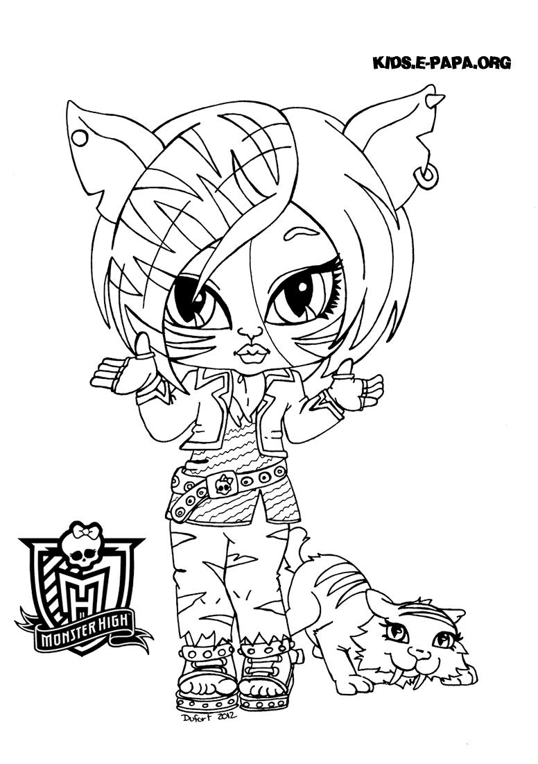 Toralei Stripe Ausmalbilder Die Monster High-Clique