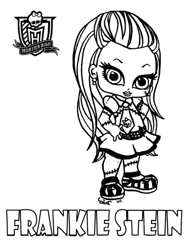 Frankie Stein Ausmalbilder Die Monster High-Clique