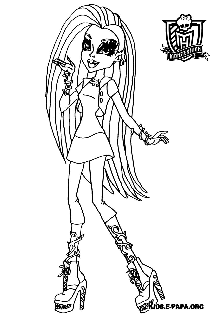 Venus McFlytrap Ausmalbilder Die Monster High-Clique