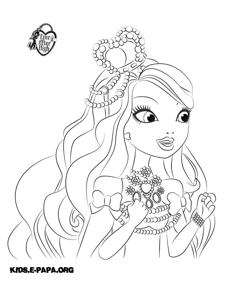 the gallery for gt ever after high coloring pages briar