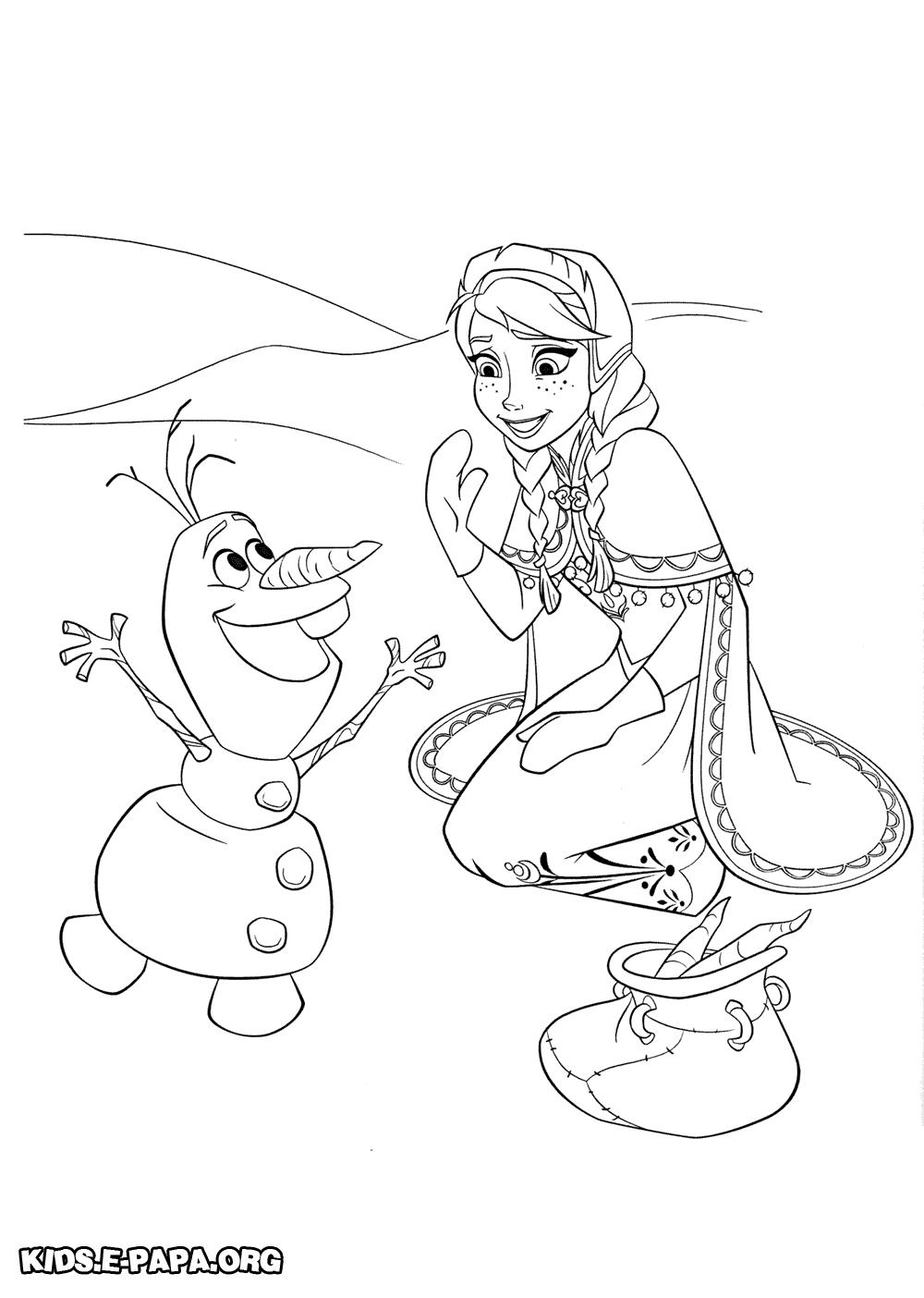 Ausmalbilder Fur Kinder Olaf Und Anna