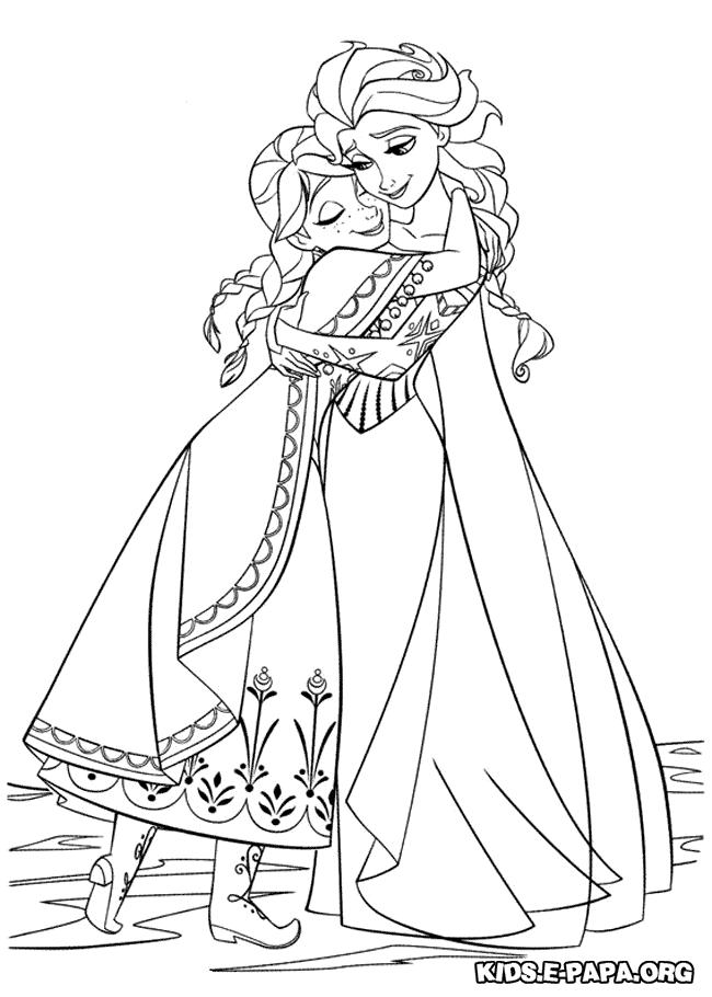 Ausmalbilder Fur Kinder Elsa Und Anna