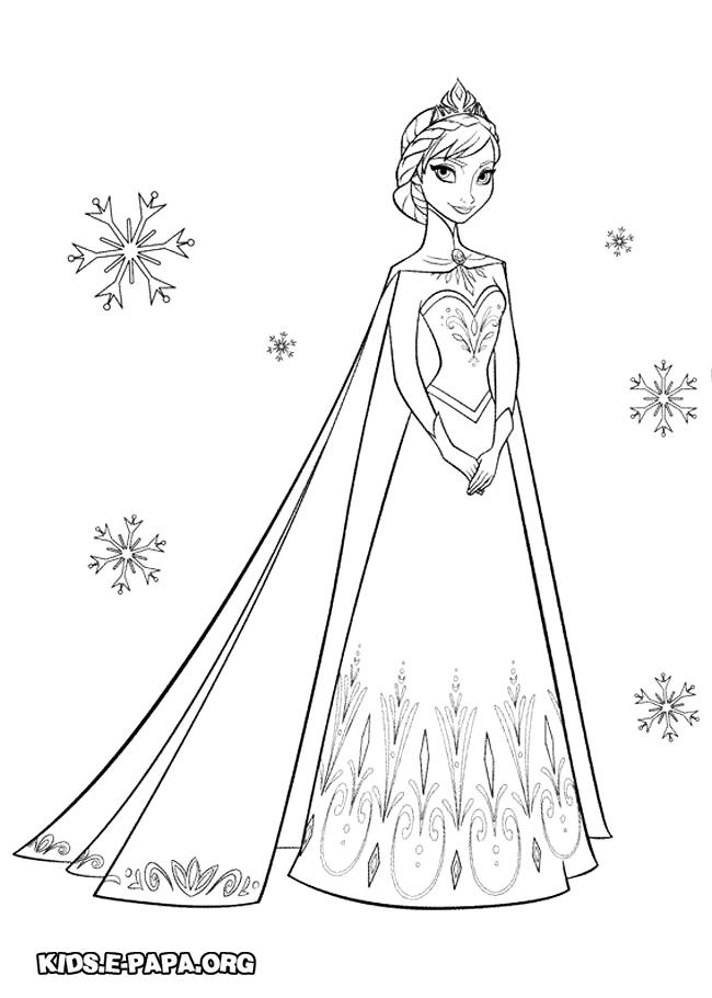 Ausmalbilder Für Kinder Elsa