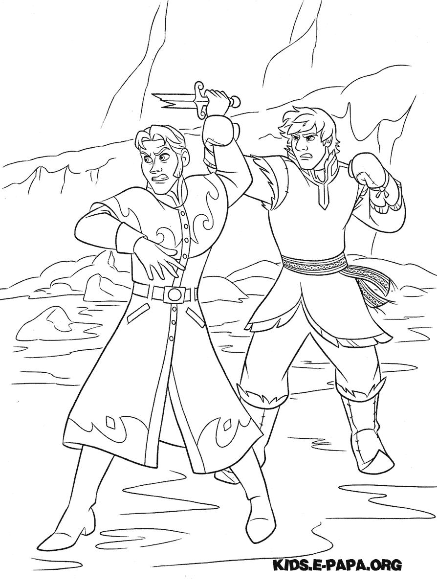 Ausmalbilder Für Kinder Kristoff Und Hans