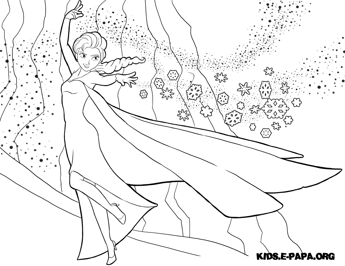 Free Anna Elsa Und Olaf Coloring Pages