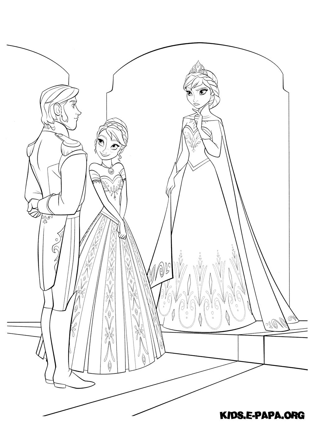 Eiskönigin Anna Und Elsa Ausmalbilder : Ausmalbilder F R Kinder Hans Elsa Und Anna