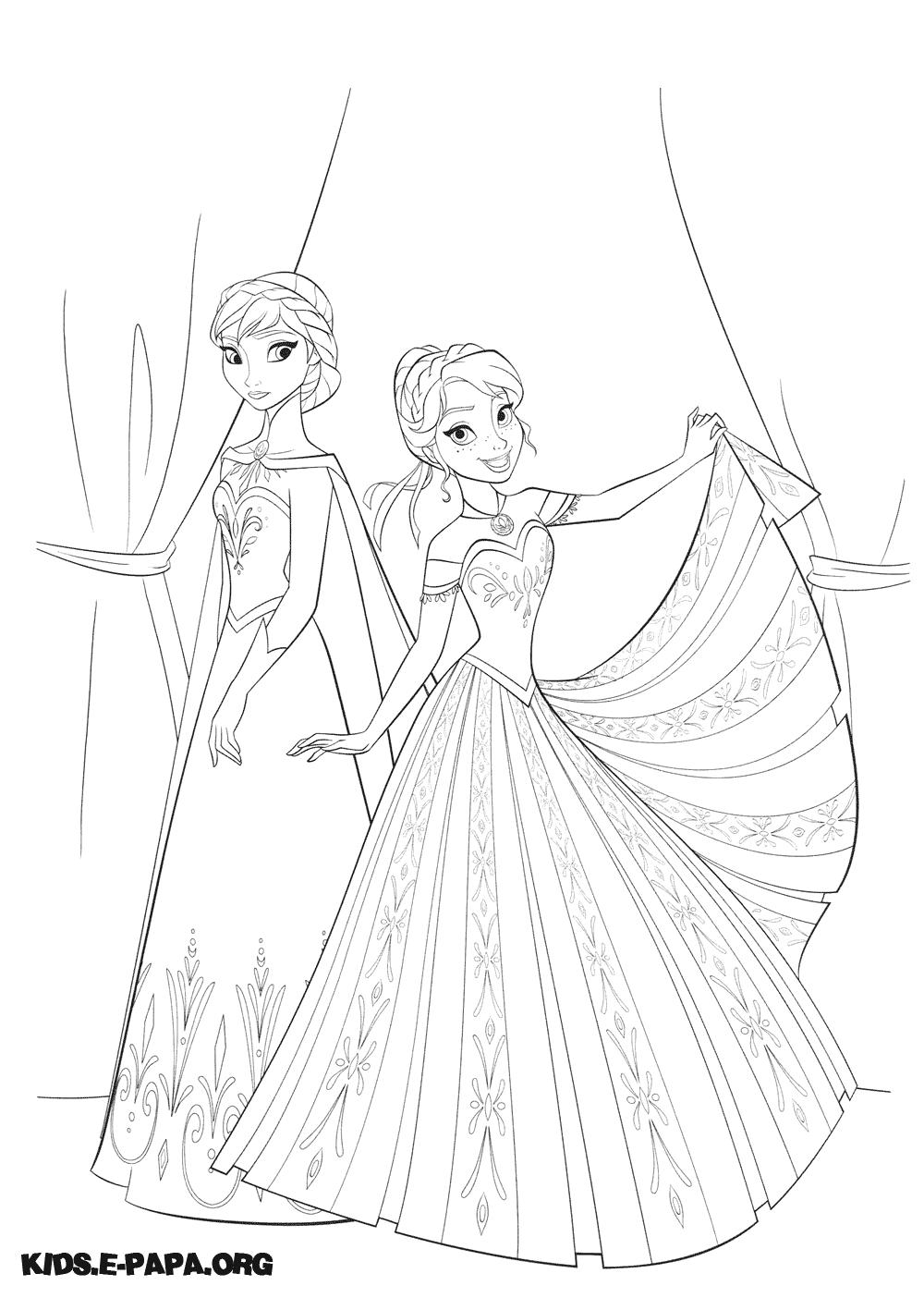 Eiskönigin Anna Und Elsa Ausmalbilder : Frozen Ausmalbilder Anna 03 Disney Filme