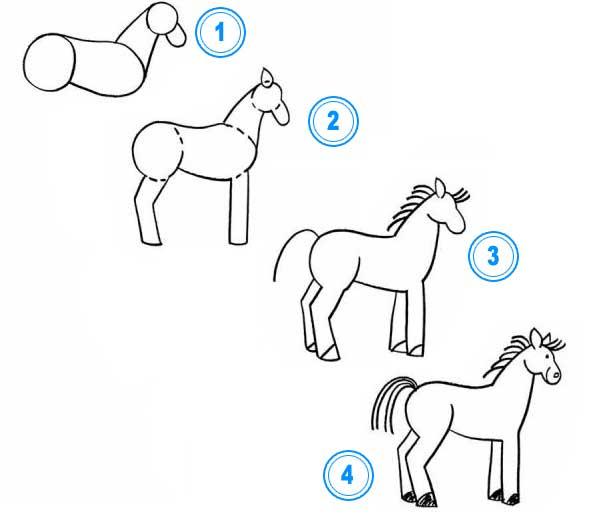 pferd zeichnen lernen tiere zeichnen lernen zeichnen lernen. Black Bedroom Furniture Sets. Home Design Ideas