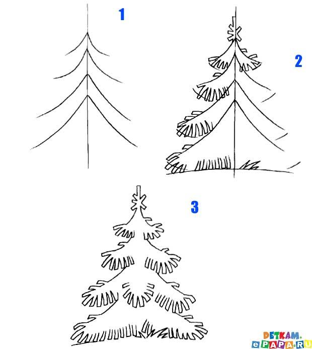 Tannenbaum Zeichnen Lernen Bäume Zeichnen Lernen Zeichnen Lernen