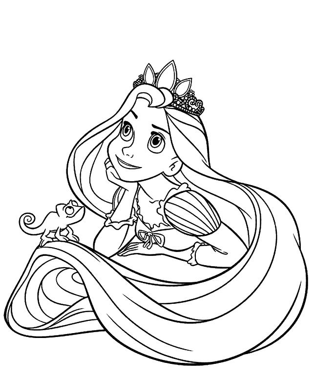 Ausmalbilder Fur Kinder Prinzessin Rapunzel