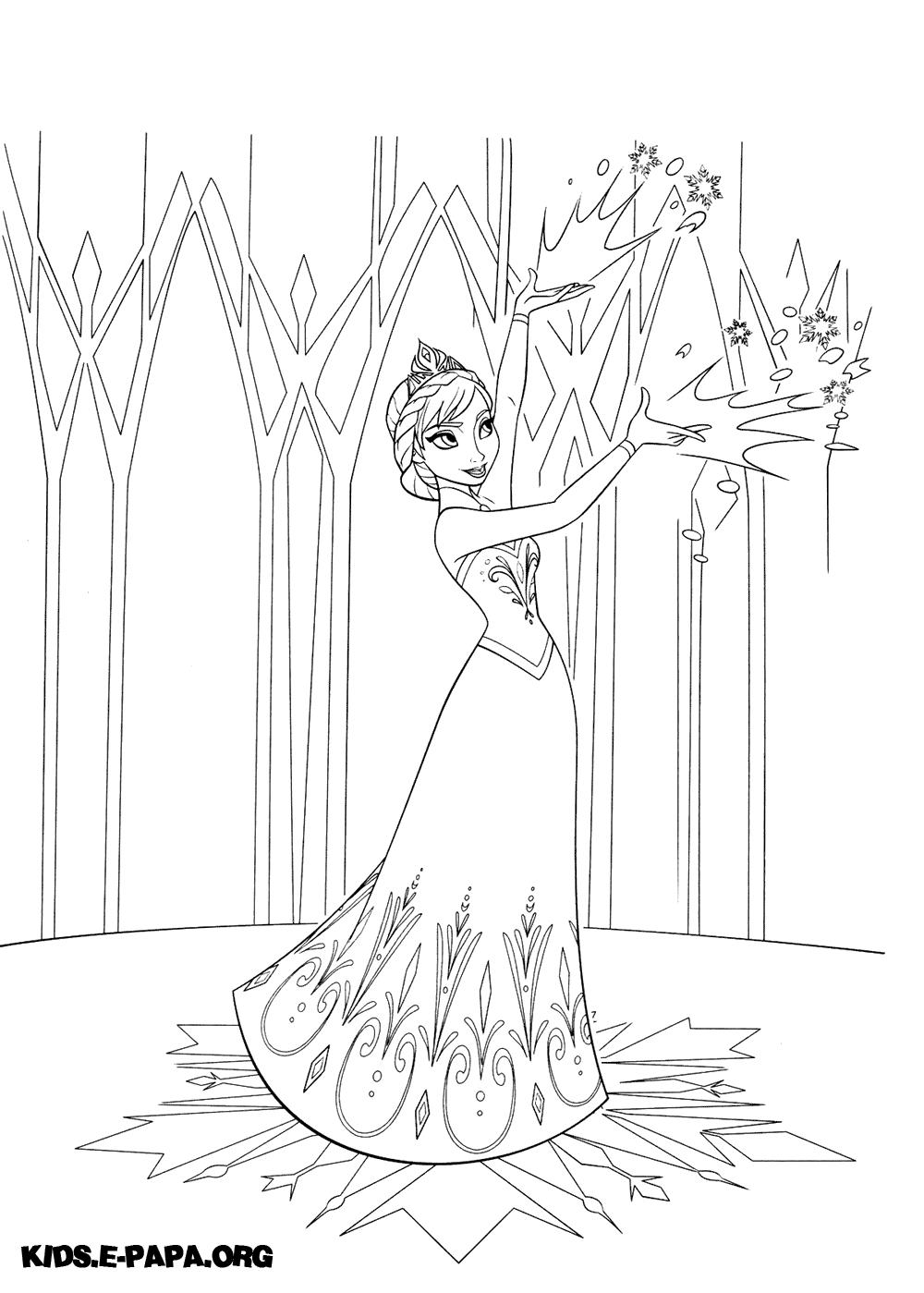 ausmalbilder elsa die eiskönigin  ausmalbilder
